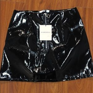 Glamorous faux patent leather skirt-Size Small